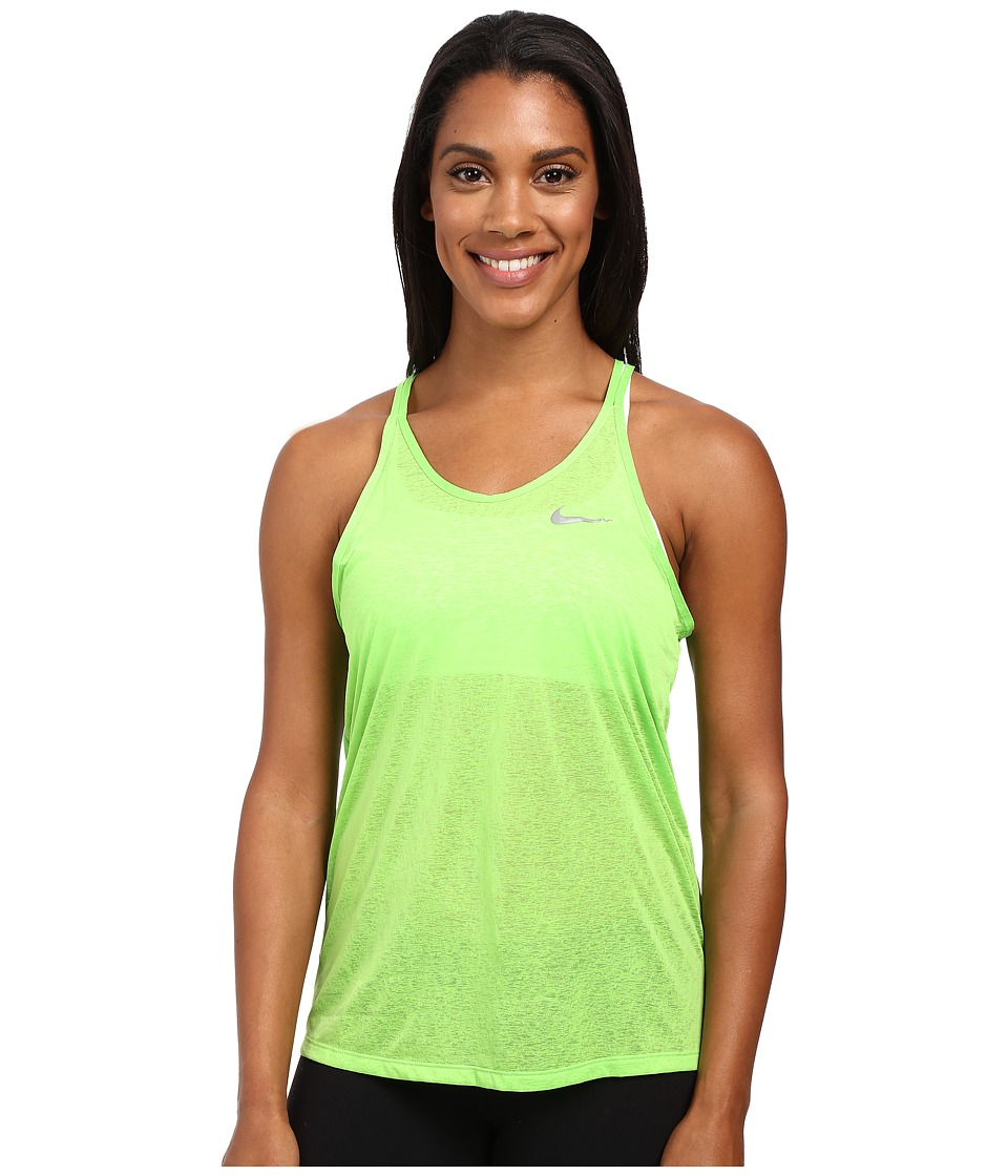 Nike - Dri-FIT Cool Breeze Strappy Running Tank Top (Action Green/Reflective Silver) Women's Sleeveless