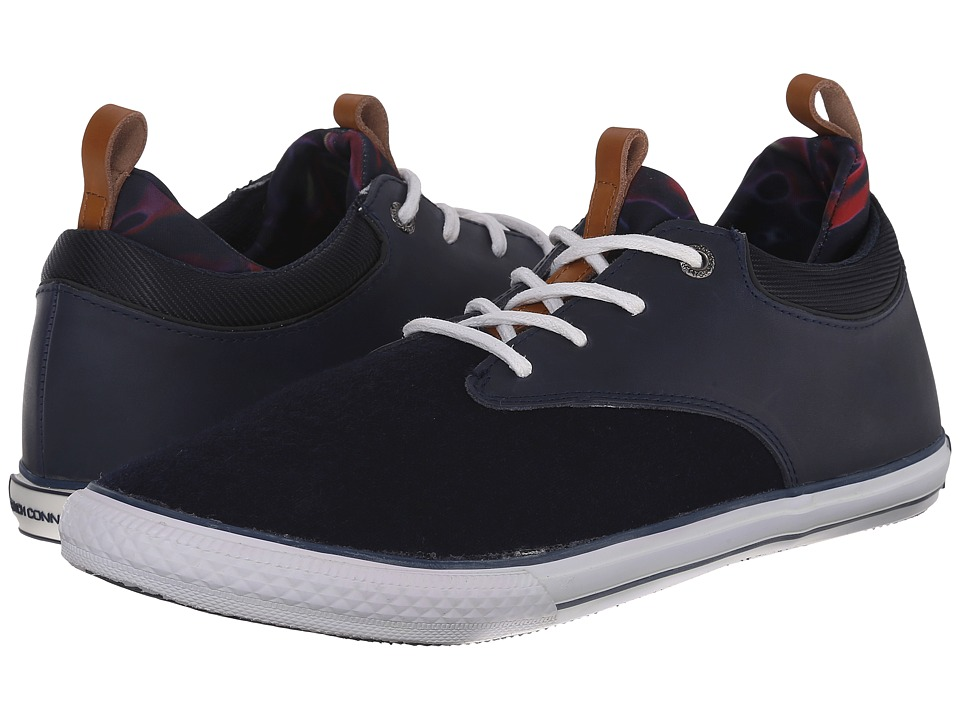 French Connection - Caliso (Dark Navy/Navy Pull Up Leather/Flannel) Men's Shoes