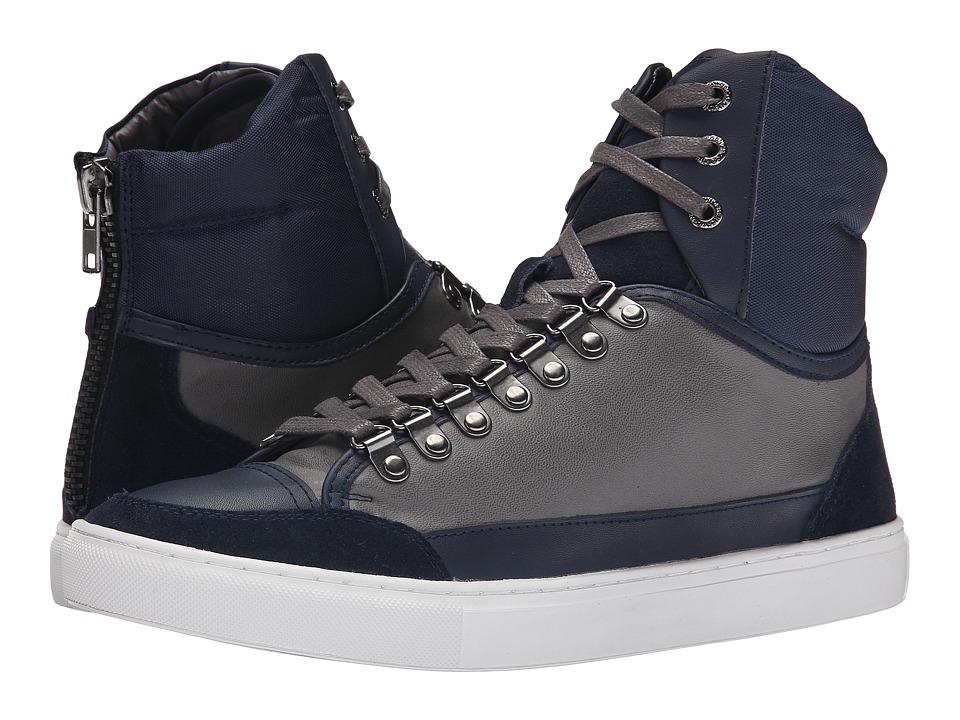 French Connection - Fenton High (Dark Grey/Brown Welk/Split Suede/Split) Men's Shoes