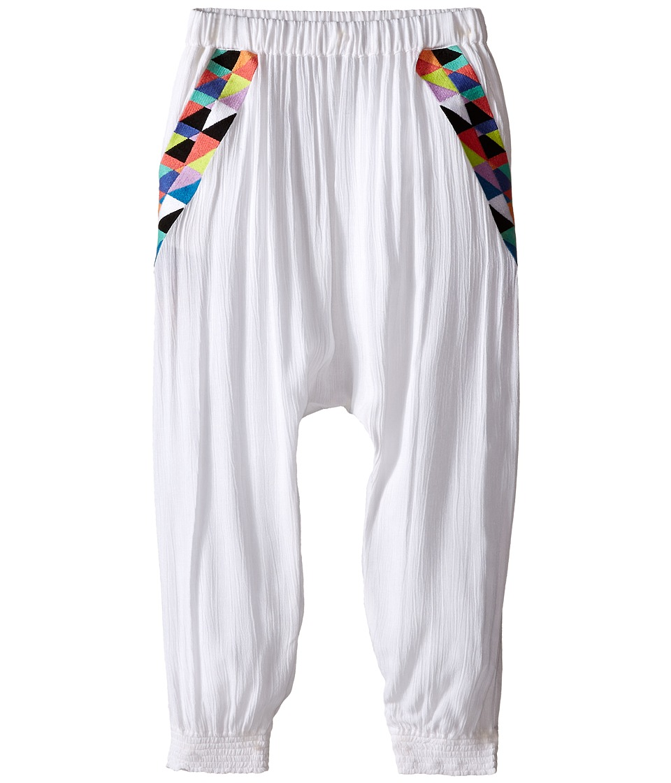 Mara Hoffman Kids - Embroidered Slouch Pants (Toddler/Little Kids/Big Kids) (White) Kid's Casual Pants
