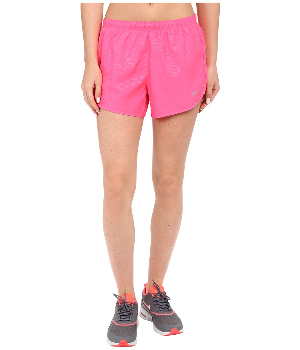 Nike - 3 Tempo Modern Embossed Running Short (Hyper PInk/Reflective Silver) Women's Shorts