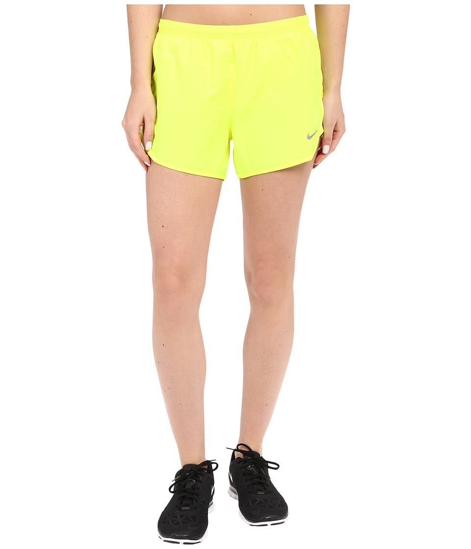 Nike - 3 Tempo Modern Embossed Running Short (Volt/Volt Ice/Reflective Silver) Women's Shorts