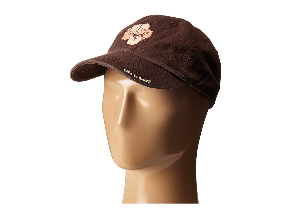 Life is good - Hibiscus Flow Chill Cap (Deep Brown) Baseball Caps