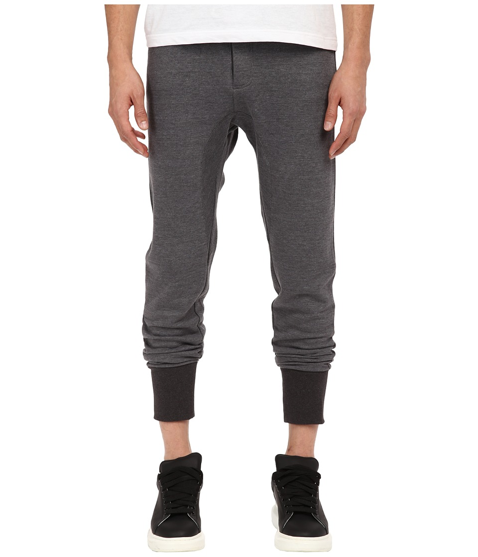 The Kooples - Sport Fancy Mix Cotton Fleece Pants (Grey) Men's Casual Pants