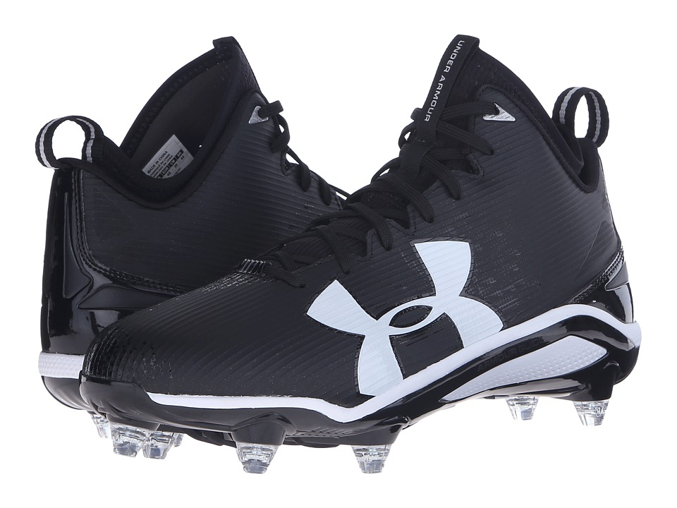 Under Armour - UA Fierce D (Black/White) Men's Cleated Shoes