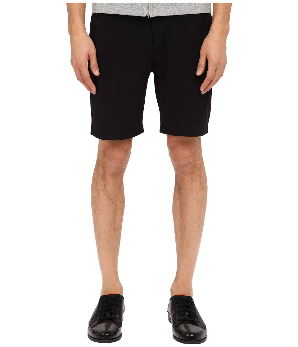 The Kooples - Sport Honey Comb Fleece Shorts (Black) Men's Shorts