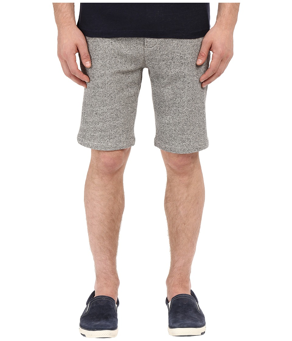 The Kooples - Sport Melange Fleece Rib Shorts (Grey) Men's Shorts