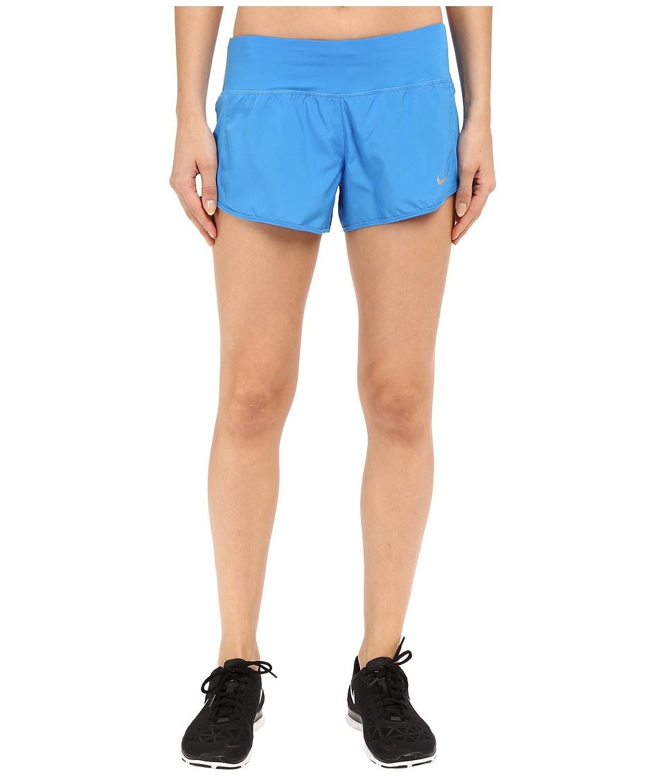 Nike - Crew Shorts (Light Photo Blue/Light Photo Blue/Reflective Silver) Women's Shorts