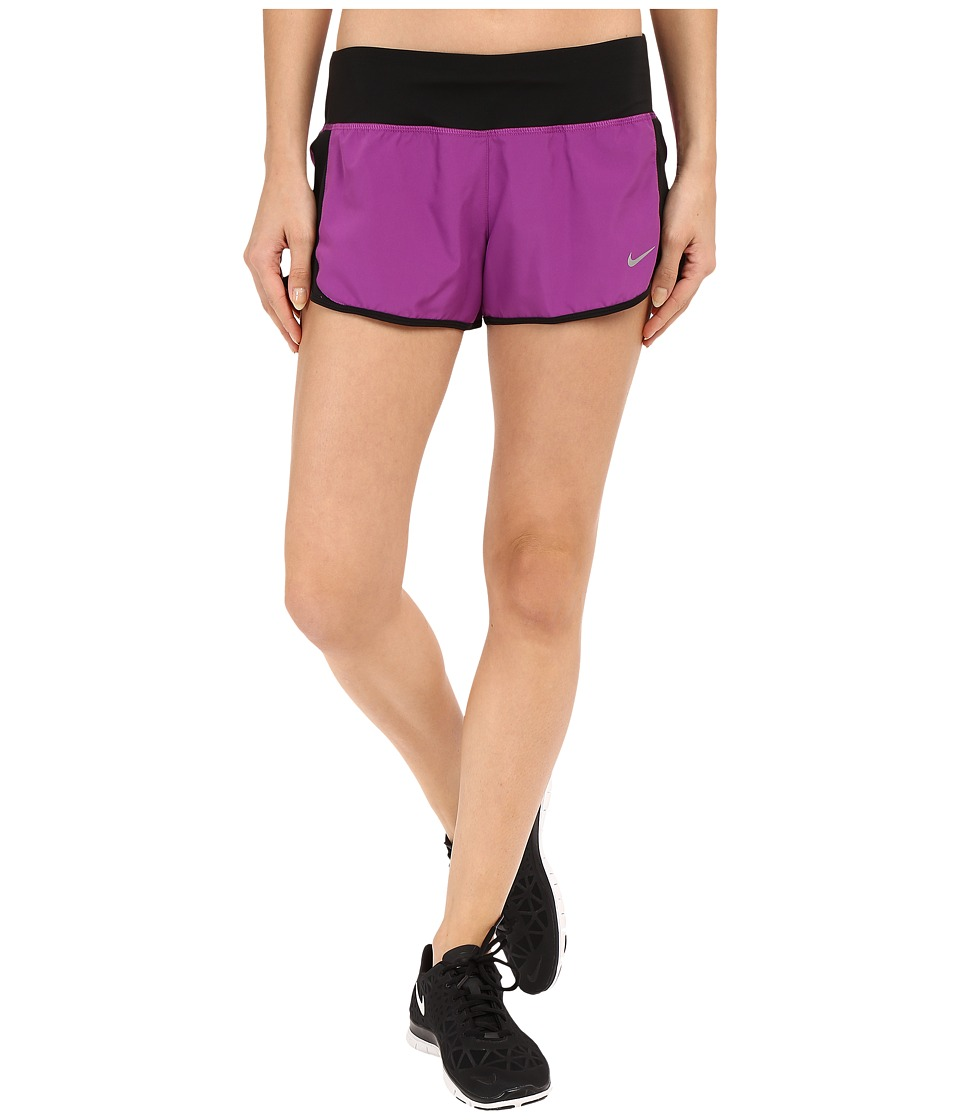 Nike - Crew Shorts (Cosmic Purple/Black/Reflective Silver) Women's Shorts