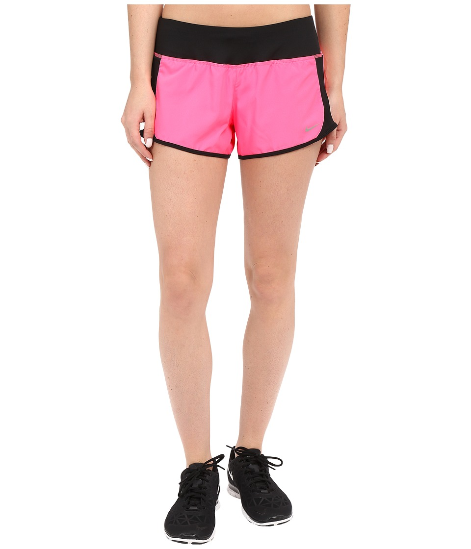 Nike - Crew Shorts (Hyper Pink/Black/Reflective Silver) Women's Shorts