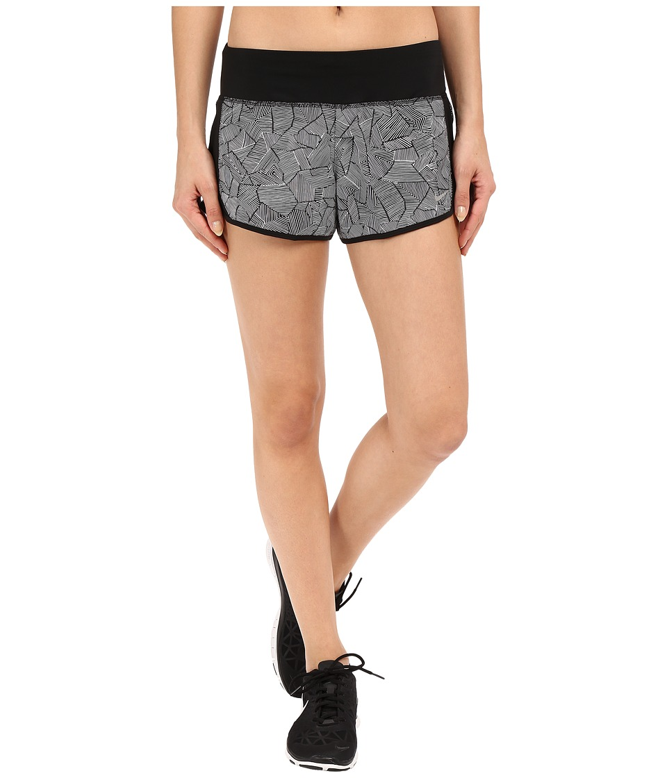 Nike - Canopy Crew Shorts (Black/Black/Reflective Silver) Women's Shorts