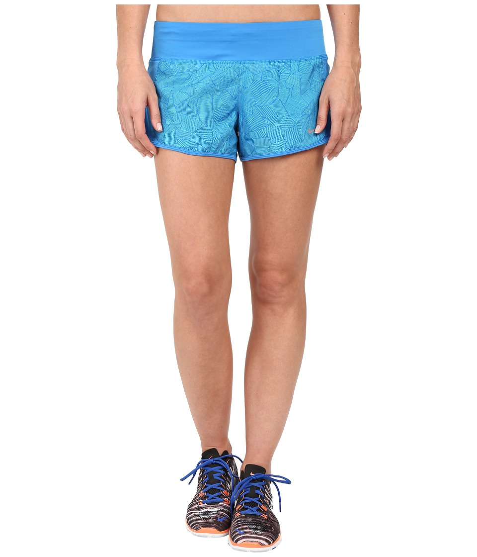 Nike - Canopy Crew Shorts (Photo Blue/Light Photo Blue/Reflective Silver) Women's Shorts
