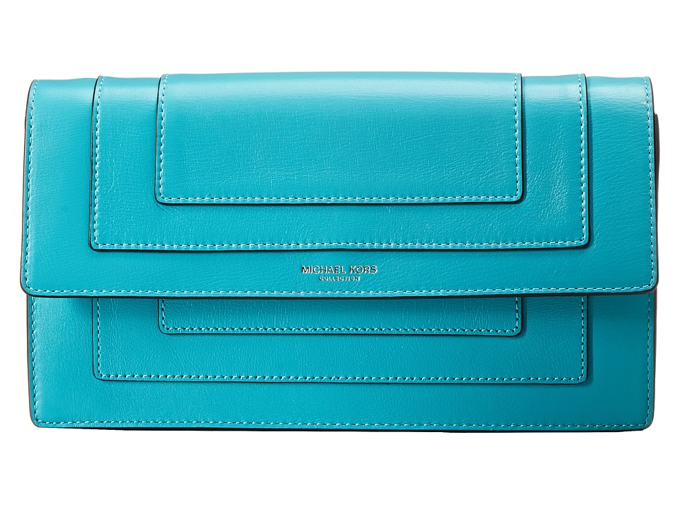 Michael Kors - Surrey Medium Clutch (Aqua) Cross Body Handbags