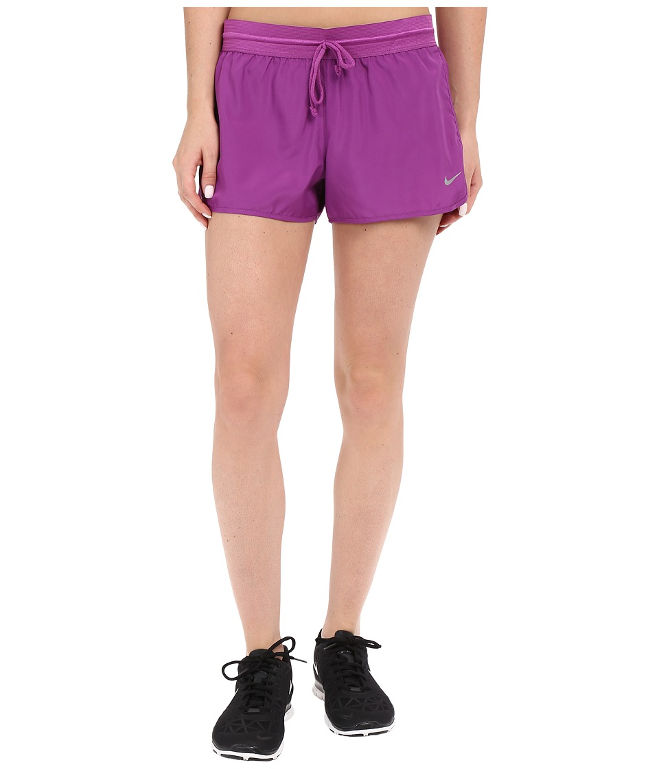 Nike - Run Fast Running Short (Cosmic Purple/Bright Crimson/Reflective Silver) Women's Shorts