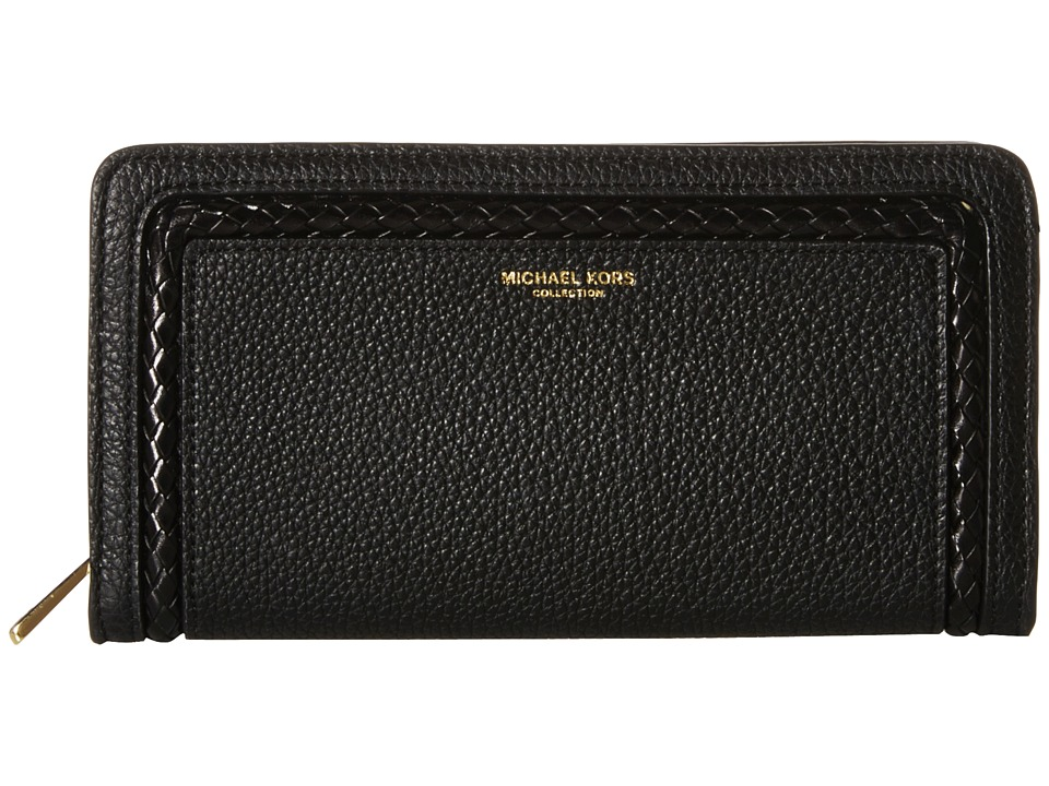 Michael Kors - Skorpios Zip Around Continental (Black) Clutch Handbags
