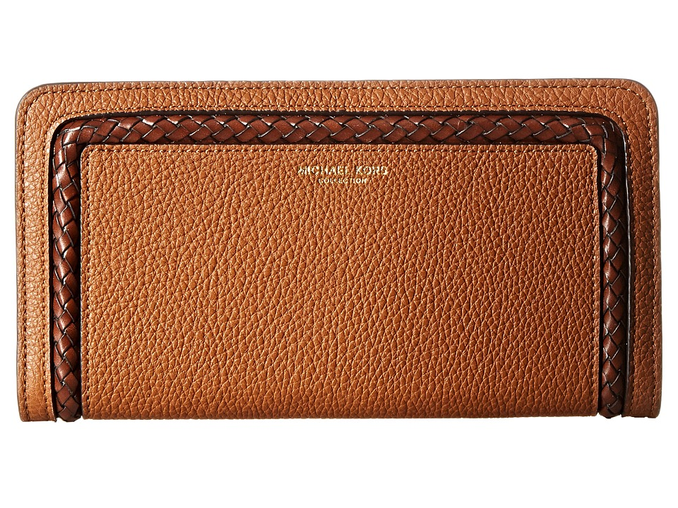 Michael Kors - Skorpios Zip Around Continental (Luggage) Clutch Handbags