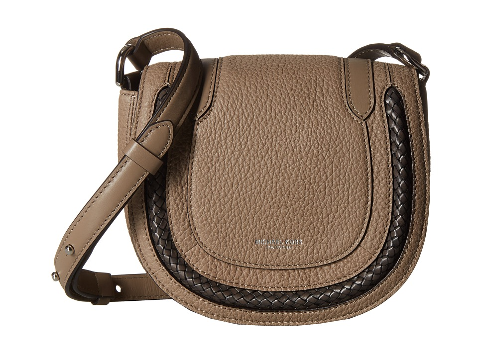Michael Kors - Skorpios Small Crossbody (Dark Taupe) Cross Body Handbags