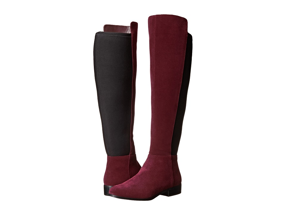 MICHAEL Michael Kors - Bromley Flat Boot (Merlot Sport Suede/Sensitive Stretch) Women