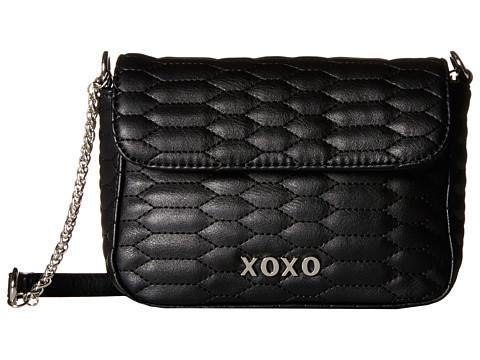 XOXO - Snake Quilted Crossbody (Black) Cross Body Handbags