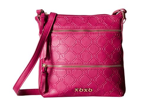 XOXO - Logo Embossed Crossbody (Berry) Cross Body Handbags
