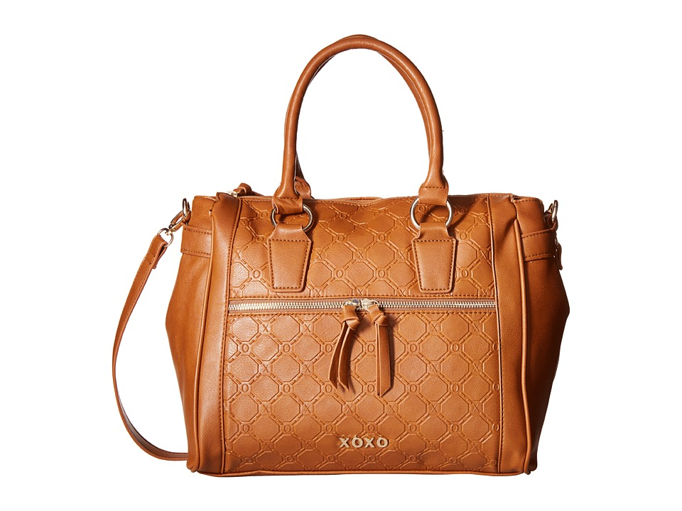 XOXO - Logo Embossed Satchel (Saddle) Satchel Handbags