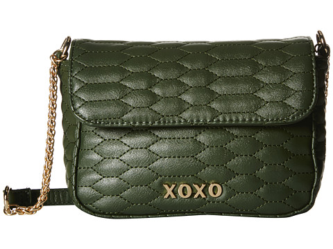 XOXO - Snake Quilted Crossbody (Hunter) Cross Body Handbags