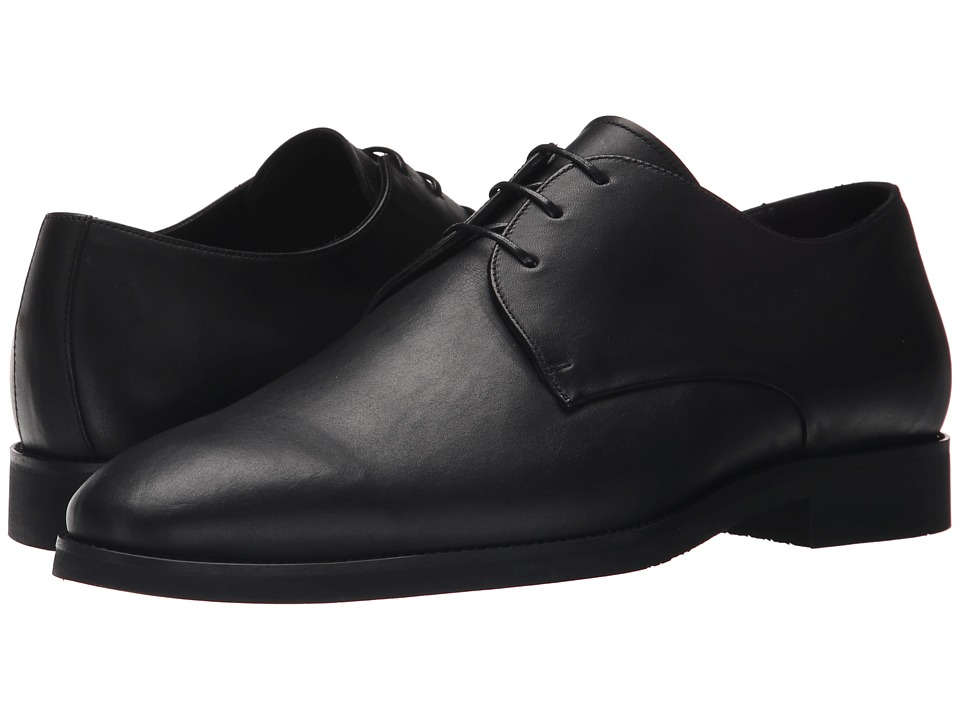 The Kooples - Smooth Leather Shoes (Black) Men's Dress Flat Shoes