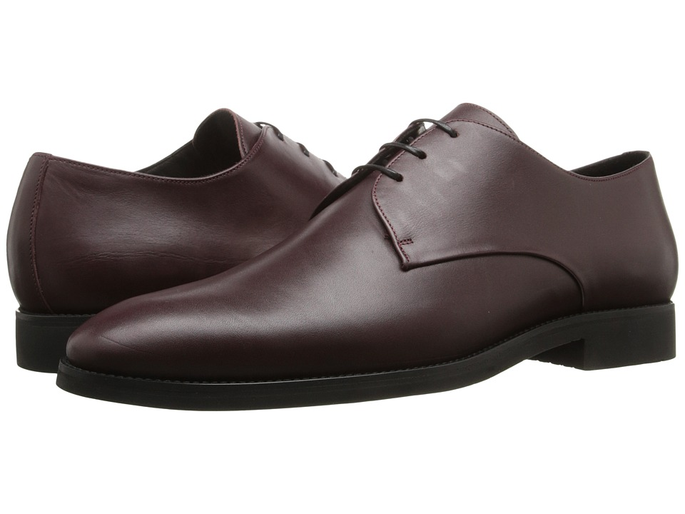The Kooples - Smooth Leather Shoes (Burgundy) Men's Dress Flat Shoes