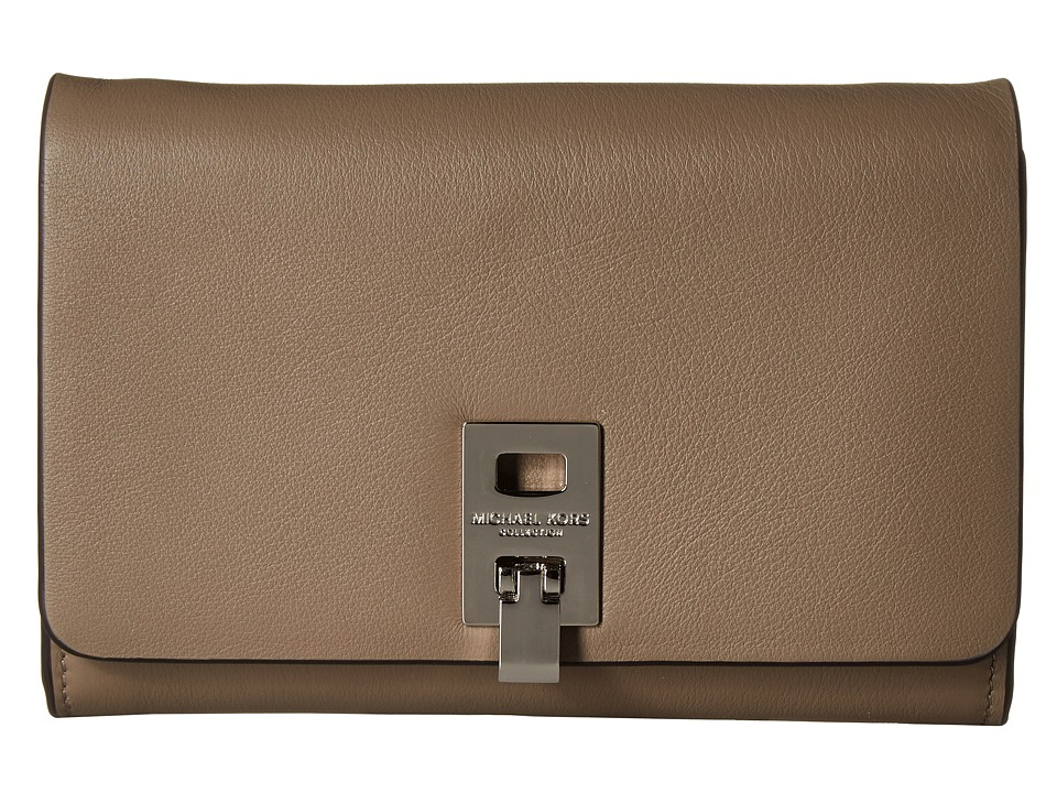 Michael Kors - Miranda Medium Wallet with Shoulder Strap (Dark Taupe) Cross Body Handbags
