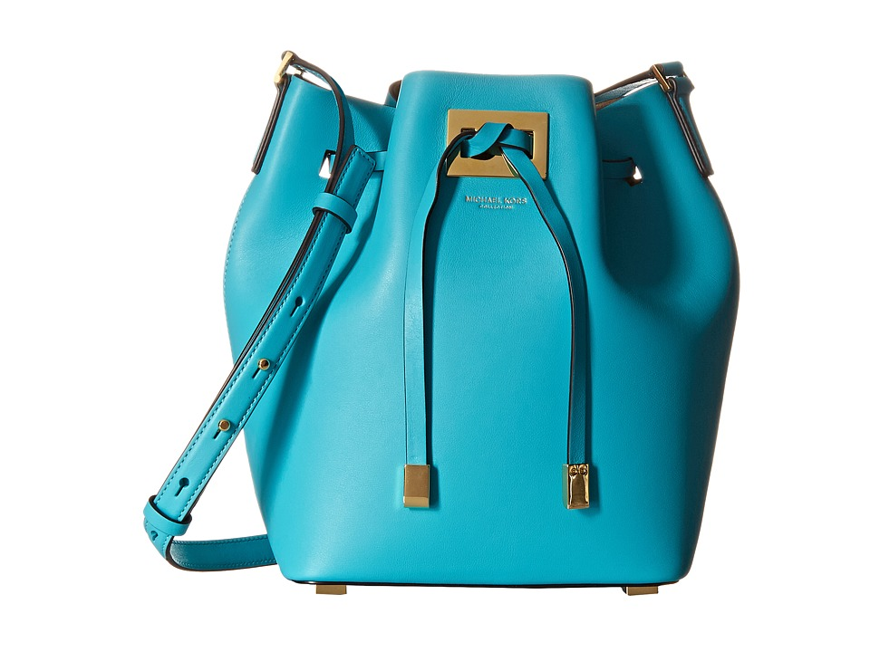 Michael Kors - Miranda Medium Drawstring Messenger (Aqua) Cross Body Handbags