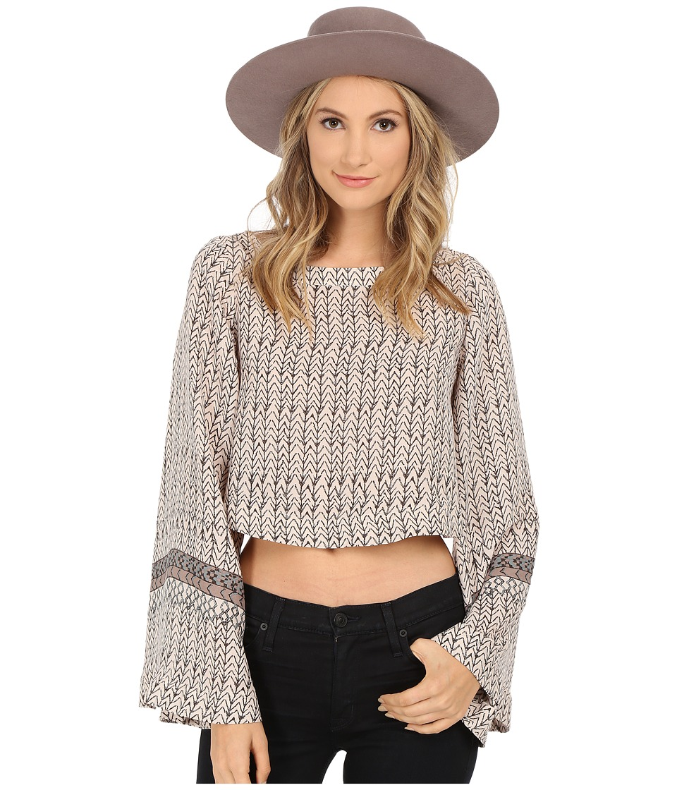 Free People - Printed Stars Aligned Top (Stone Combo) Women's Clothing