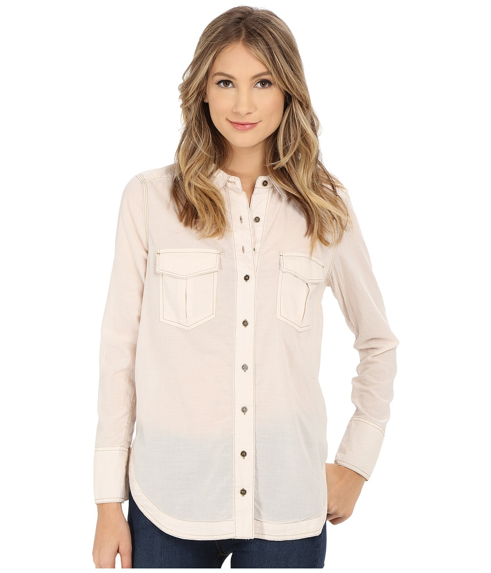 Free People - Last Chance Button Down (Pearl) Women's Long Sleeve Button Up
