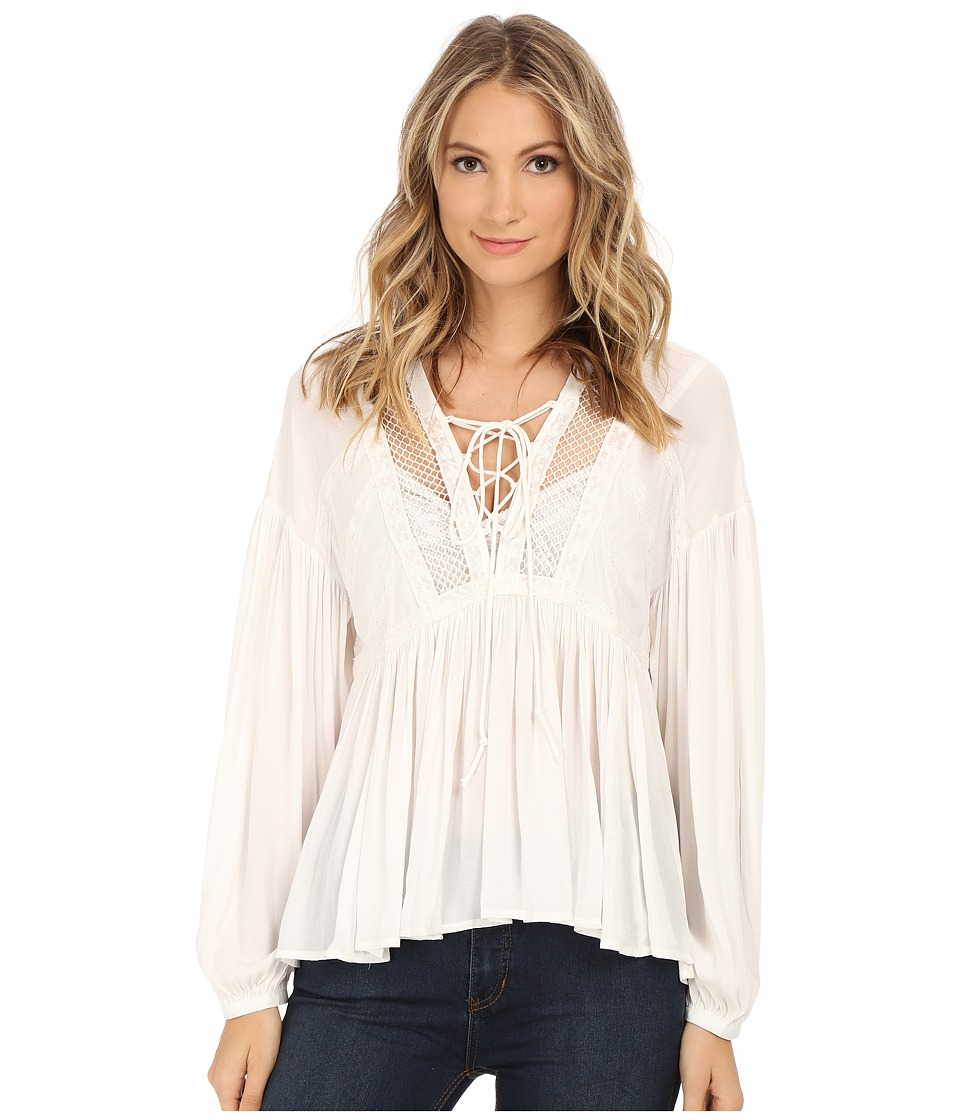 Free People - Don't Let Go Peasant Top (Ivory) Women's Blouse