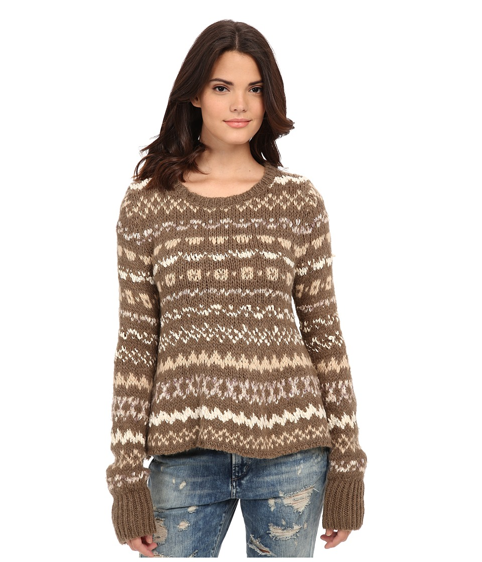Free People - Through the Storm Pullover (Taupe Combo) Women's Sweater