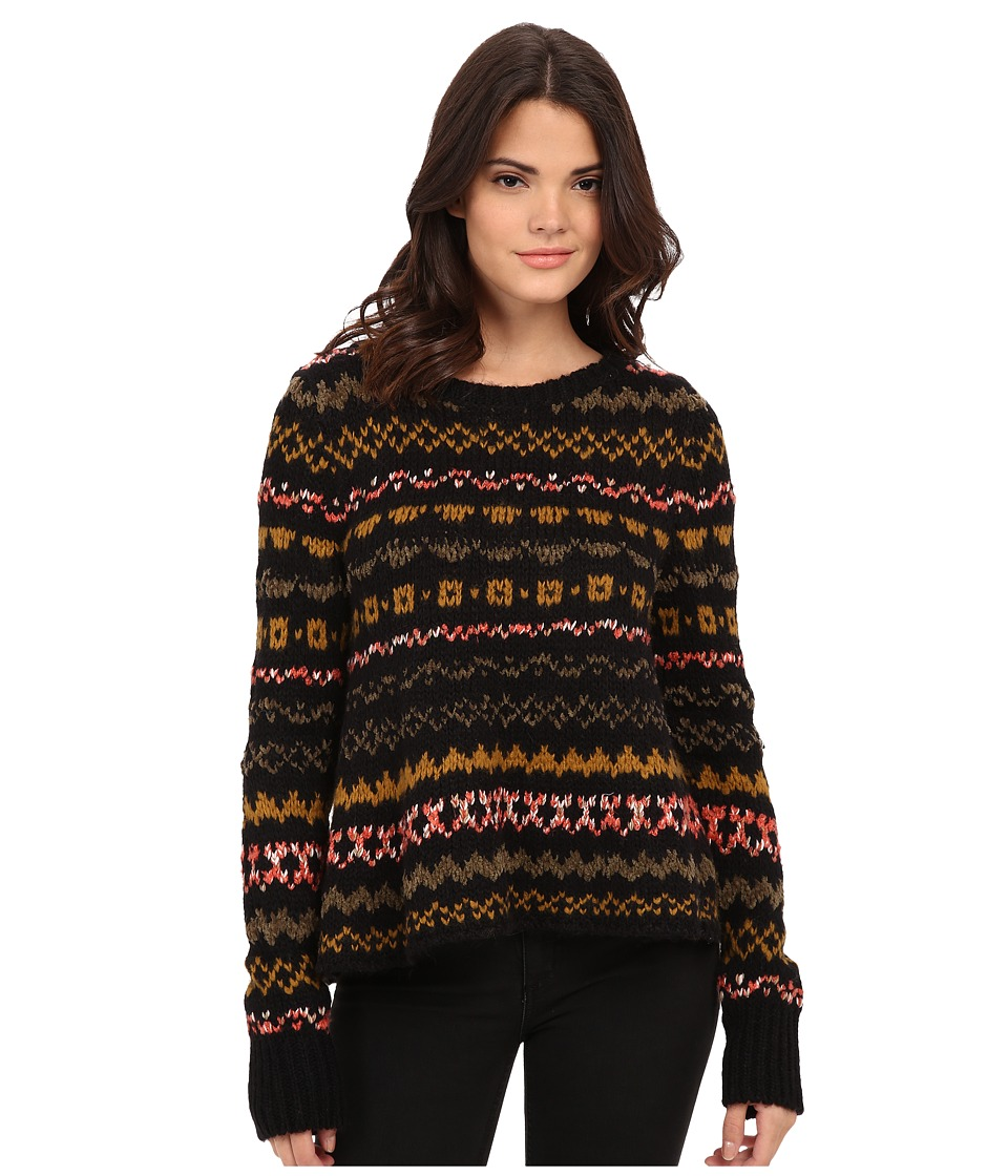 Free People - Through the Storm Pullover (Black Combo) Women's Sweater