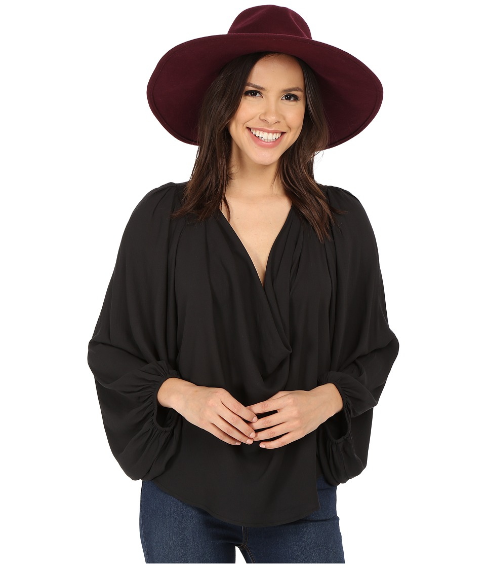 Free People - Cowling Around Top (Black) Women's Blouse