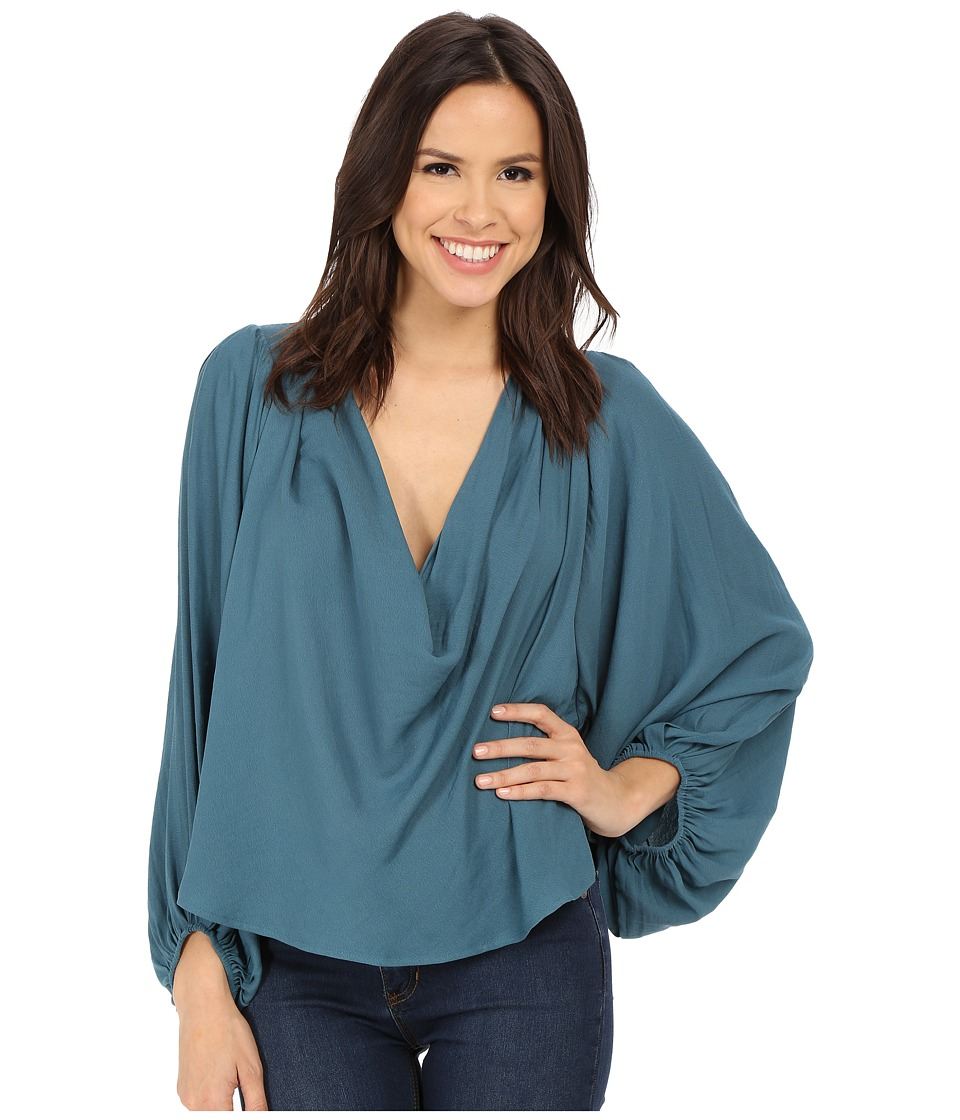 Free People - Cowling Around Top (Jade) Women's Blouse