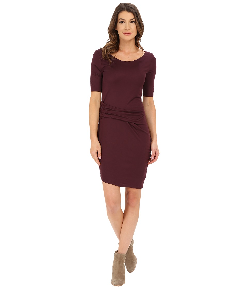 Three Dots Christina Dress (Vintage Wine) Women