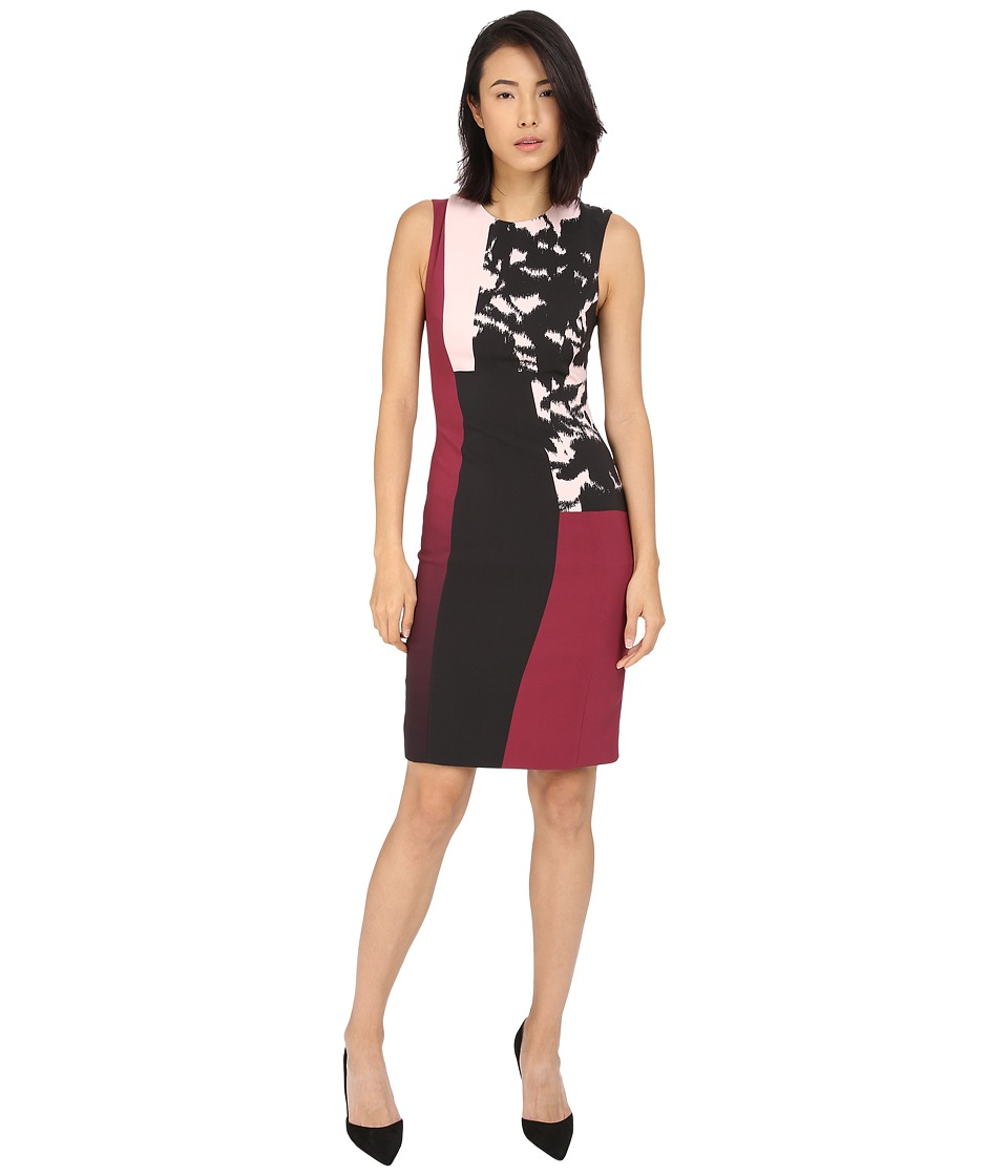 Prabal Gurung - Printed Viscose Long Dress (Berry/Shell Floral Shadow) Women's Dress