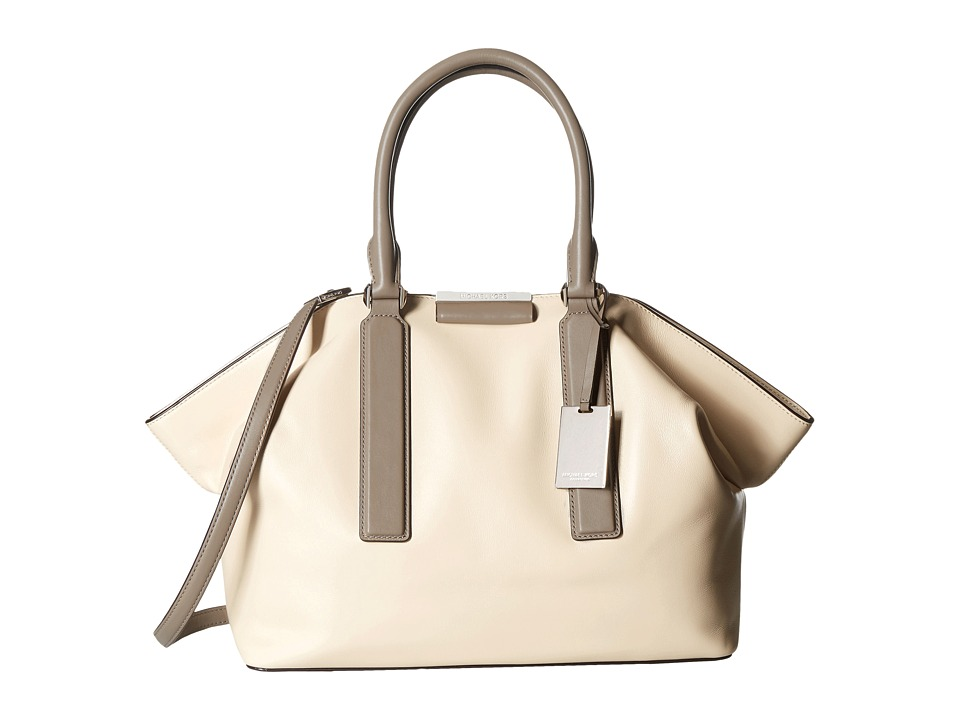 Michael Kors - Lexi Large East/West Satchel Color Block (Vanilla) Satchel Handbags