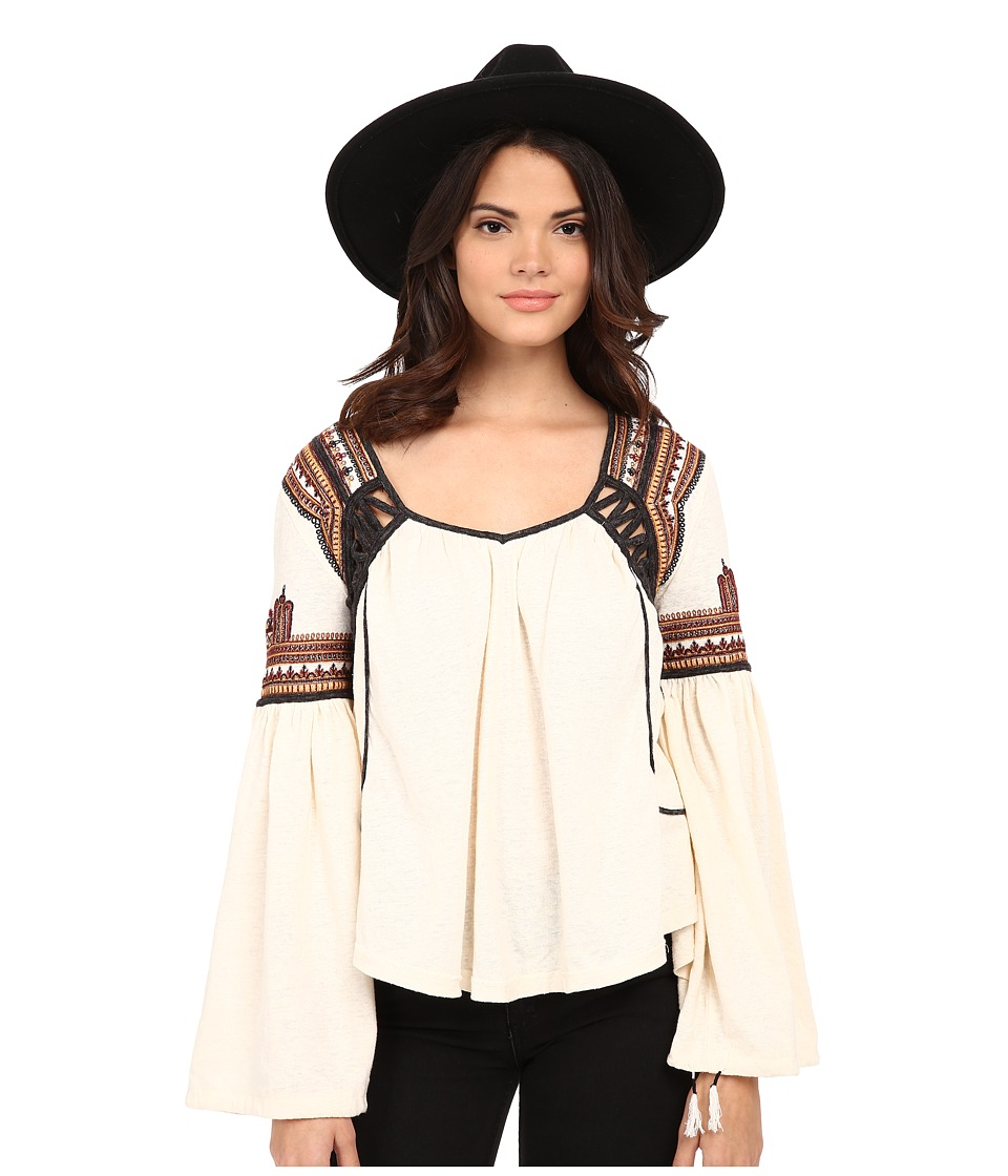 Free People - Snow Kisses Blouse (Cream) Women's Blouse