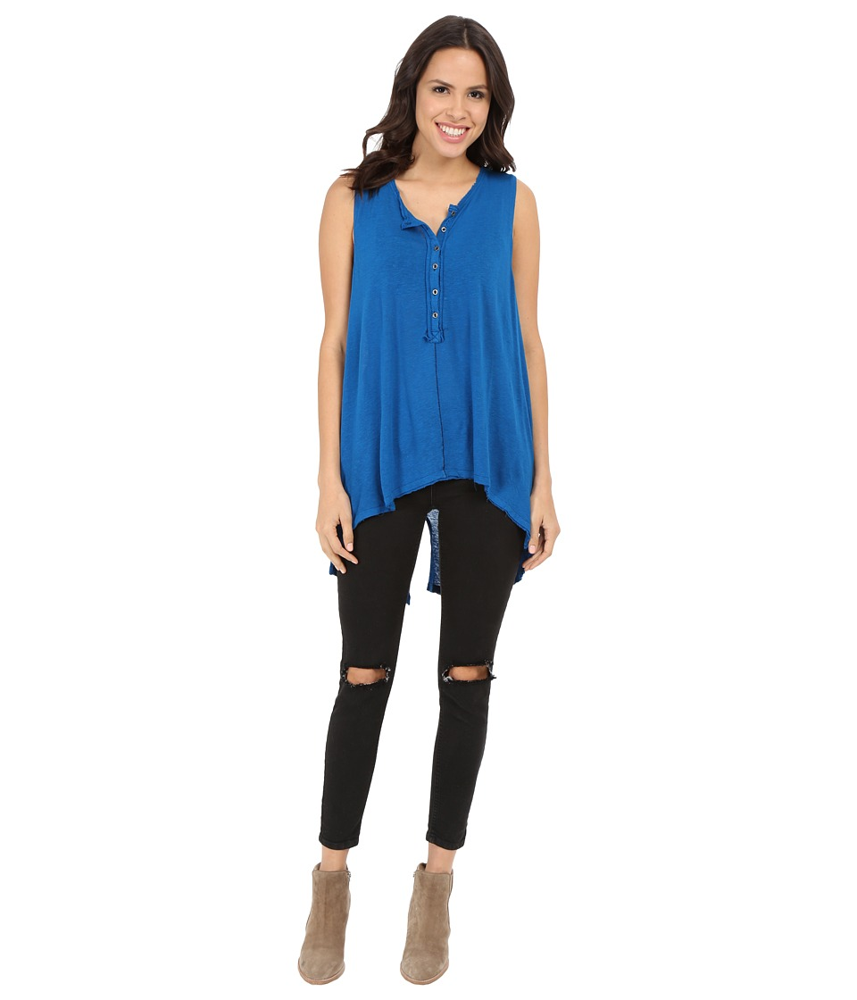 Free People - Union Henley (Sapphire) Women's Sleeveless