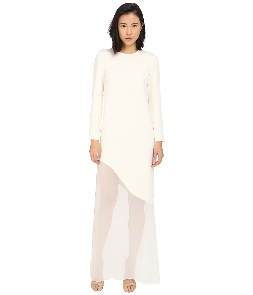 Prabal Gurung - Sheer Asymmetrical Dress (Magnolia) Women's Dress