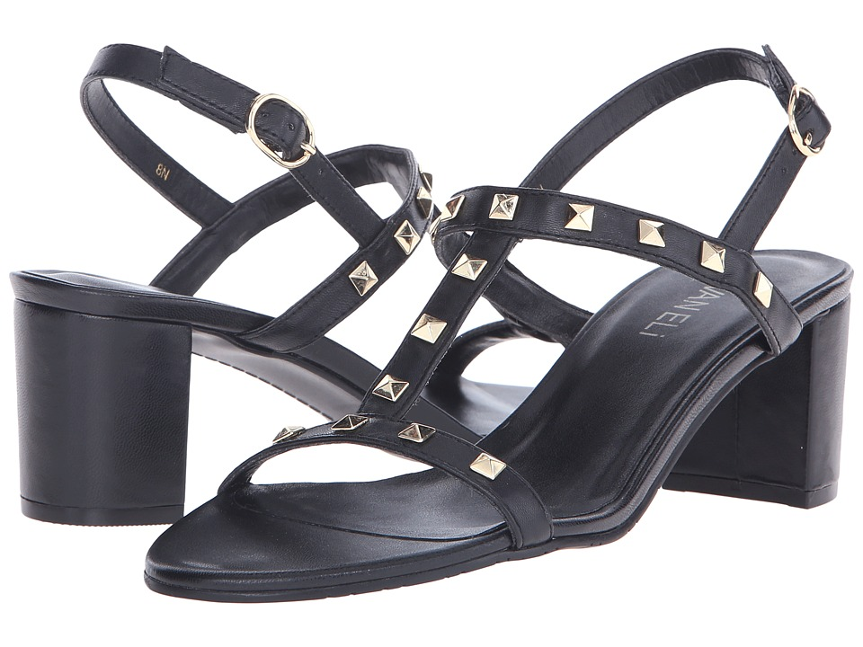 Vaneli - Mandy (Black Ecco Nappa) High Heels