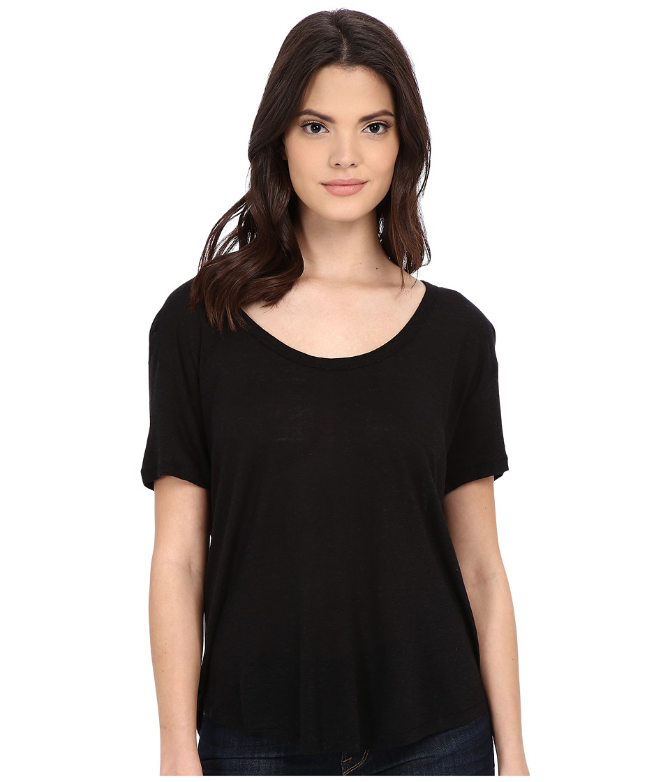 Free People - Gemma Tee (Black) Women's T Shirt