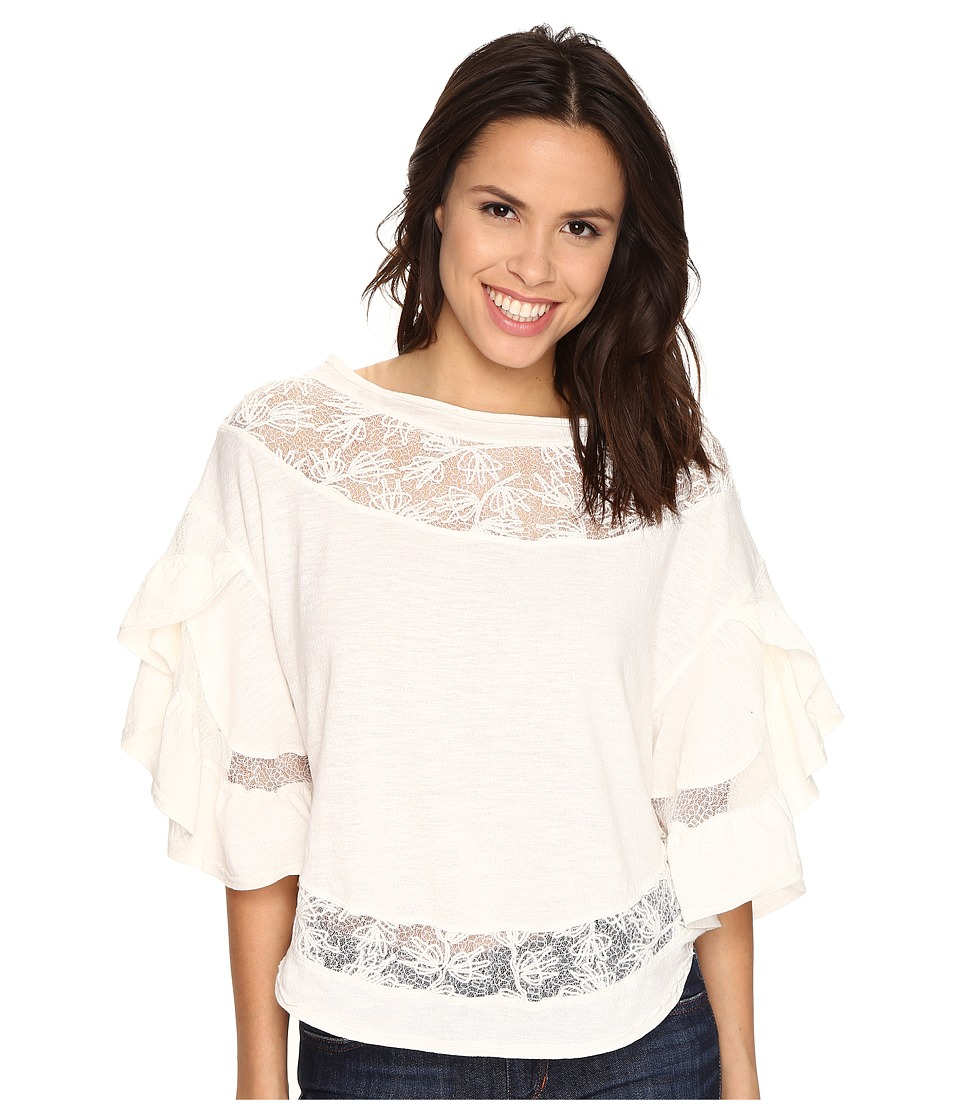 Free People - Love Affair Top (Ivory) Women's T Shirt