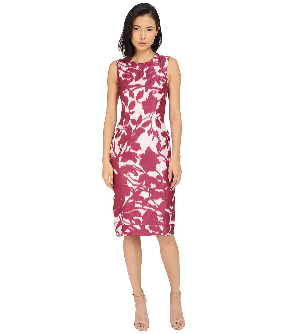 Prabal Gurung - Floral Shadow Print Sleeveless Dress (Berry Floral Shadow) Women's Dress