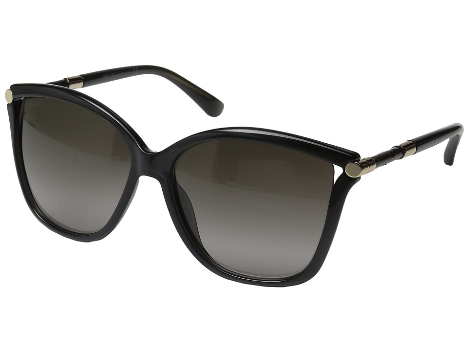 Jimmy Choo - Tatti/S (Dark Gray/Brown Gradient) Fashion Sunglasses
