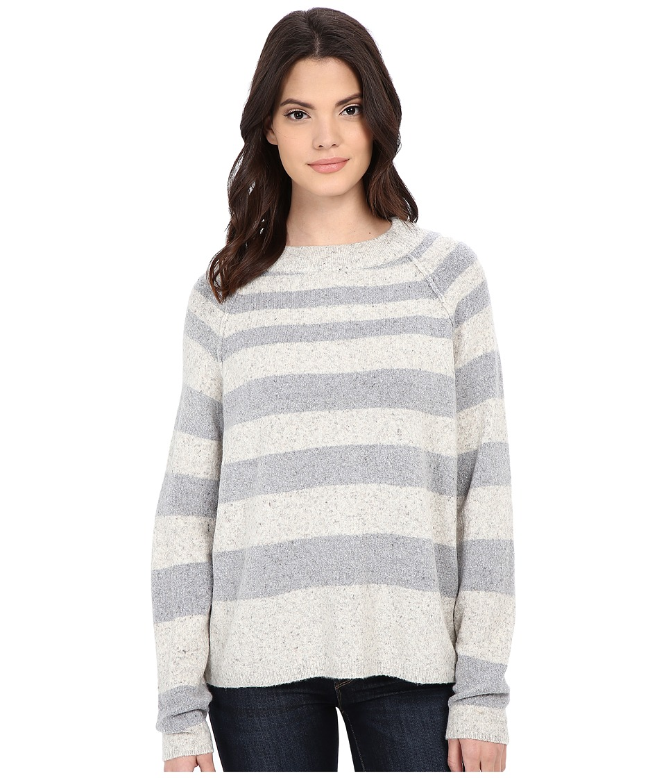 Free People - Striped Bubble Crew (Ivory/Grey Combo) Women's Clothing