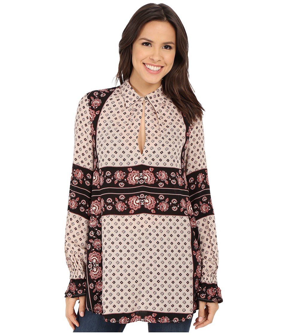 Free People - Rayon Dobby Changing Times Printed Tunic (Tea Combo) Women's Blouse